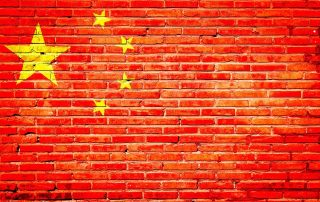 China wall flag