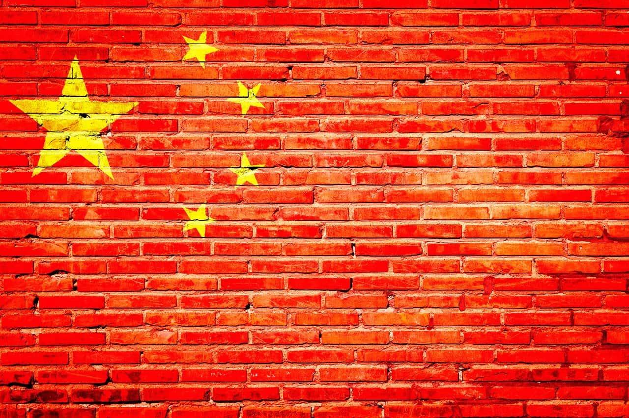 China wall flag
