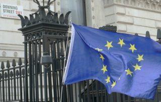EU flag Downing Street