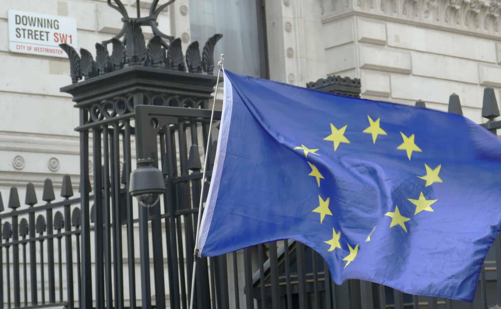 EU flag Downing Street