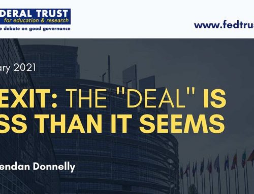 "Video podcast: ""Brexit: The ""Deal"" is less than it seems"