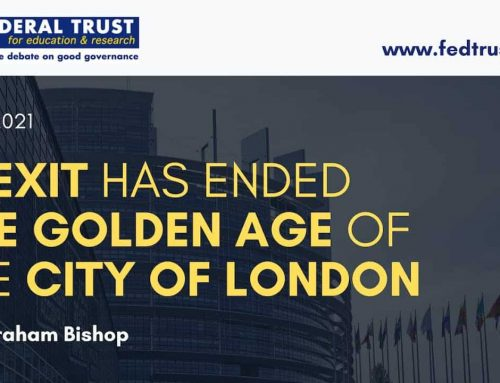 """Video: """"Brexit has ended the Golden Age of the City of London"""""""